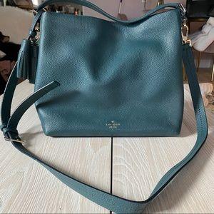 Beautiful Kate Spade, emerald bag w. Tassel accent